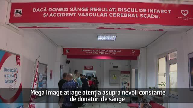 (P) Mega Image atrage atenția asupra nevoii constante de donatori de sânge
