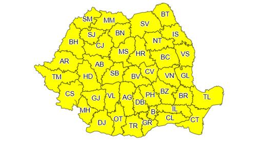 ANM: Cod galben de ceaţă densă şi gheţuş în jumătate din ţară, inclusiv în Bucureşti