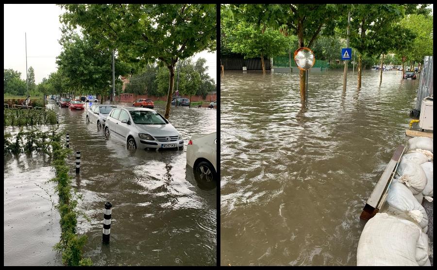 Furtuna a făcut ravagii în București și Ilfov. Pasaje, intersecții și bulevarde, inundate