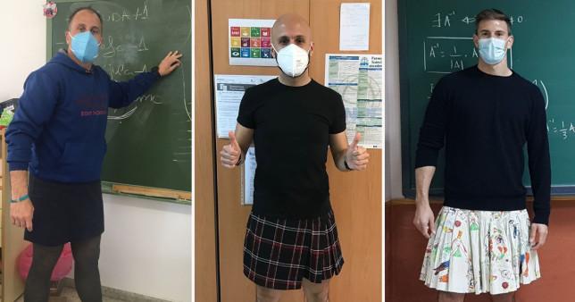 Câțiva profesori de sex masculin din Spania au început să poarte fuste la școală. Explicațiile lor