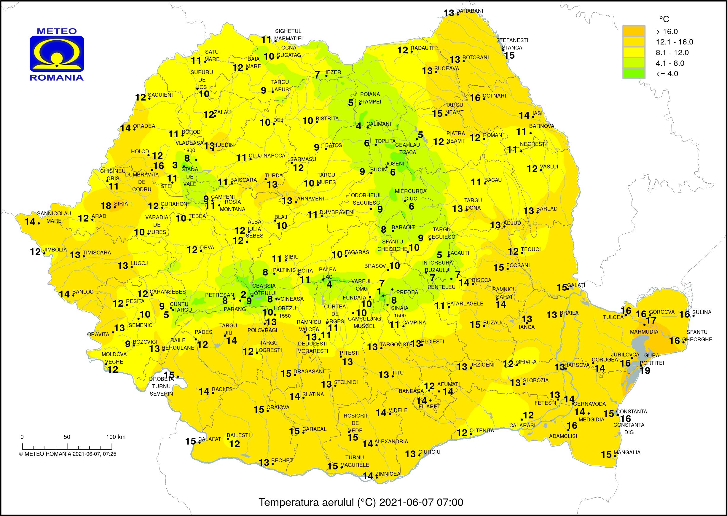 Vreme instabilă în toată țara, cu temperaturi de vară, dar și ploi și grindină. Care este prognoza următoarelor zile