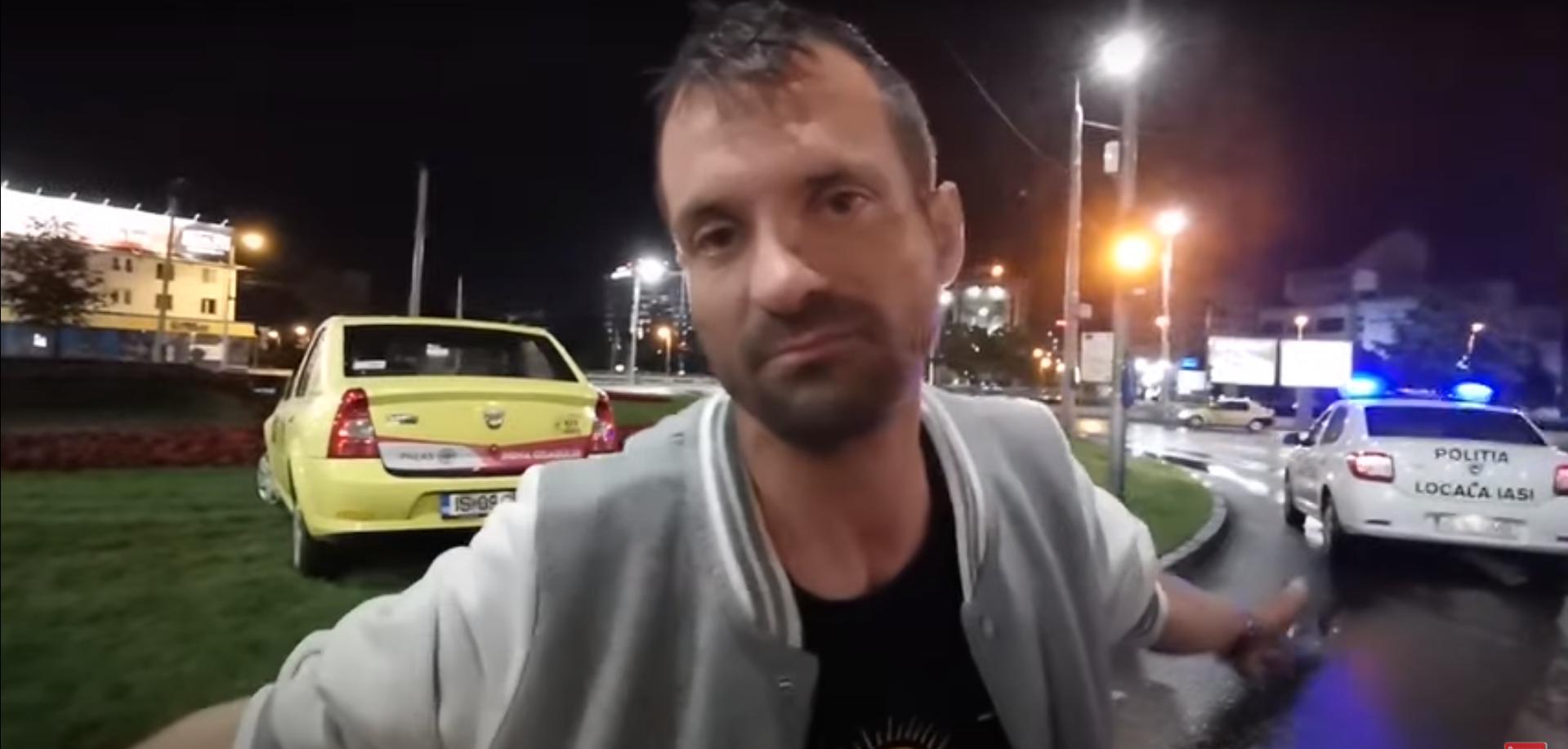 Video. Explicaţiile unui martor beat la un accident din Iaşi: