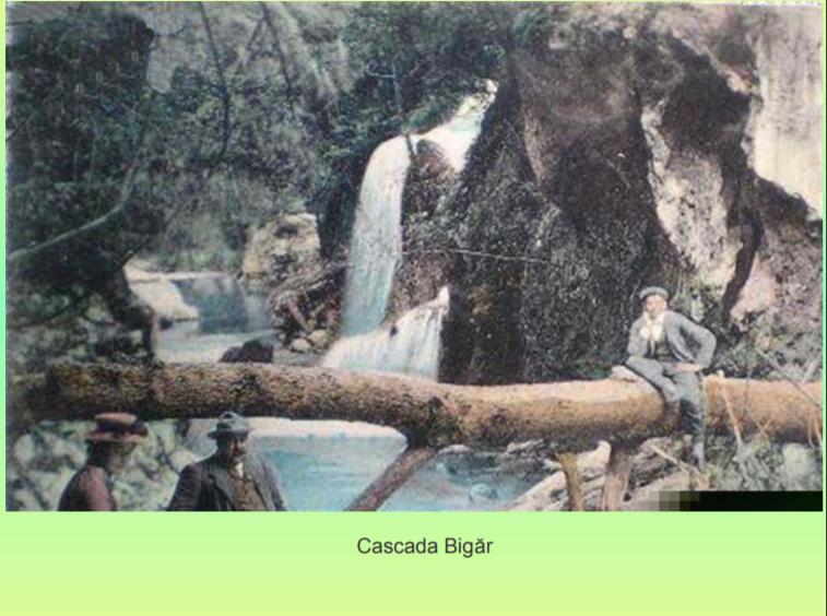 Cum arăta cascada Bigăr acum 100 de ani, când se numea Coronini. FOTO inedit