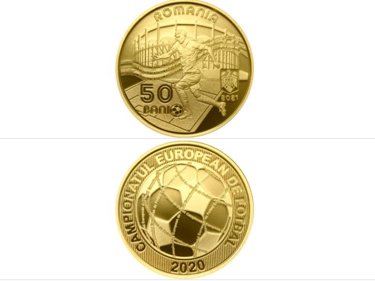 FOTO. BNR lansează o monedă specială cu tema Campionatul European de Fotbal, EURO 2020