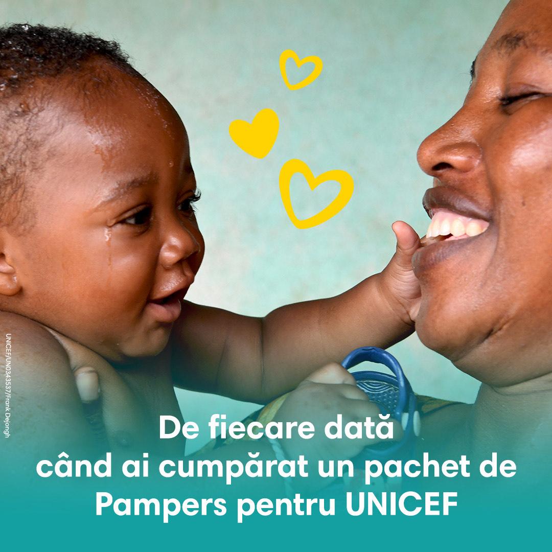 (P) Pampers & UNICEF sărbătoresc 15 ani de reușite