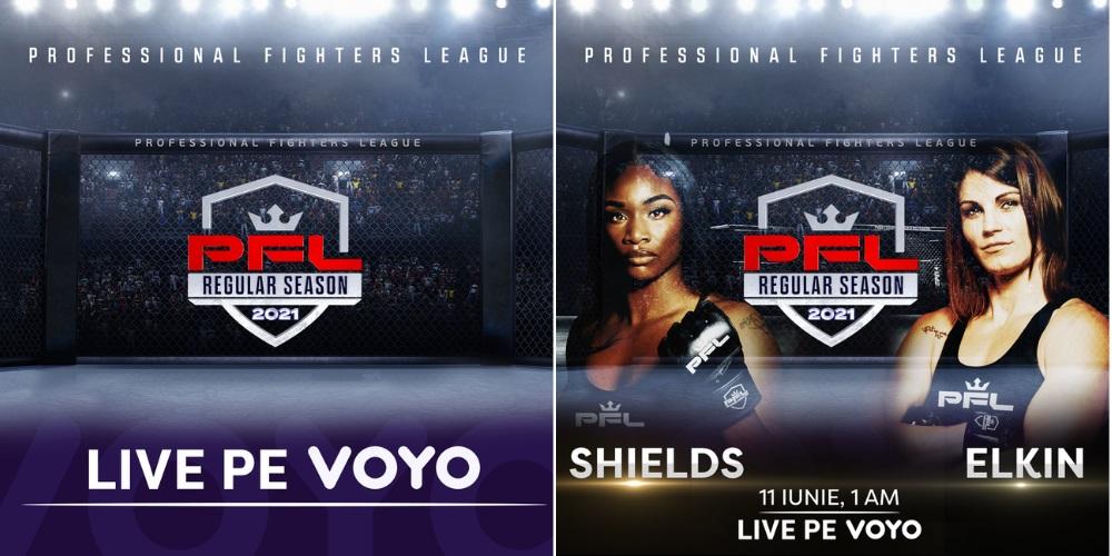 Meciurile din Professional Fighters League (PFL) se văd pe VOYO!