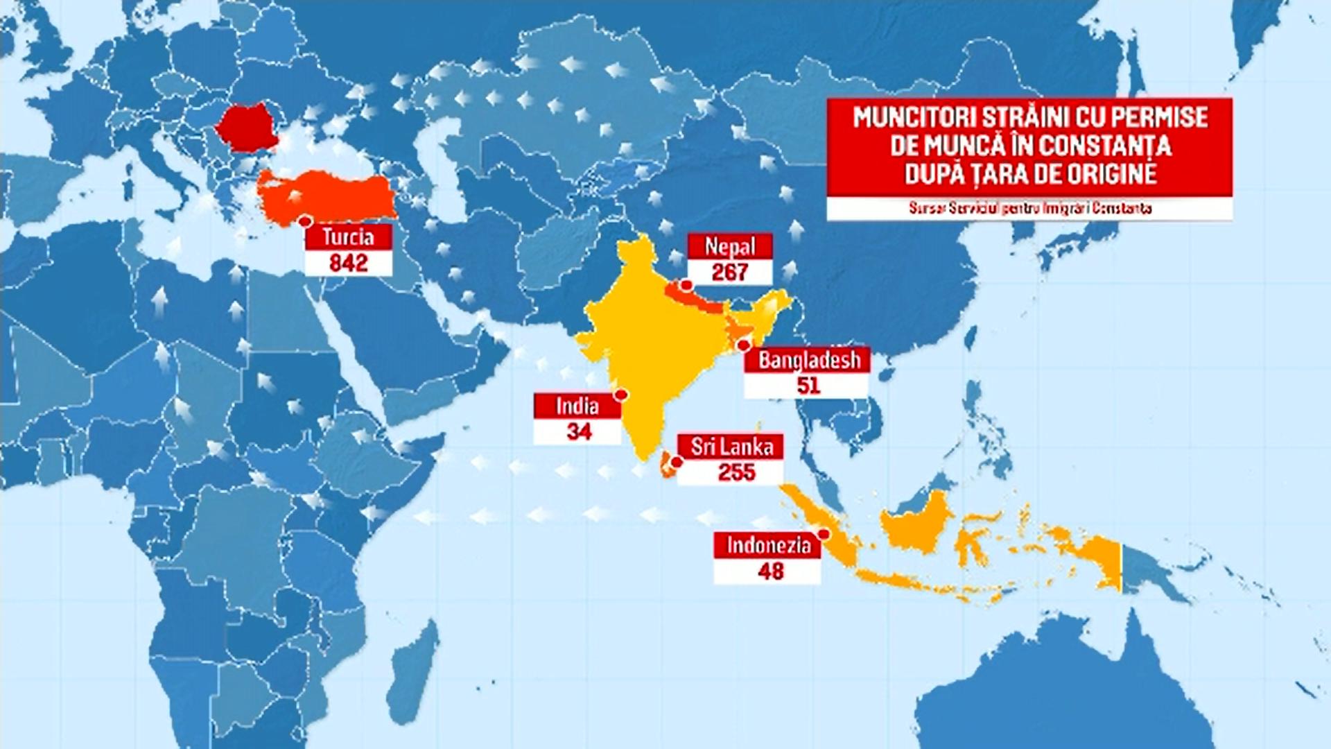 Peste 2000 de muncitori din Nepal, Vietnam sau India ridică zeci de blocuri pe litoralul românesc
