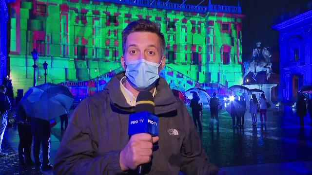 Un spectacol de lumini a dat tonul campionatului de fotbal EURO 2020, găzduit la Roma
