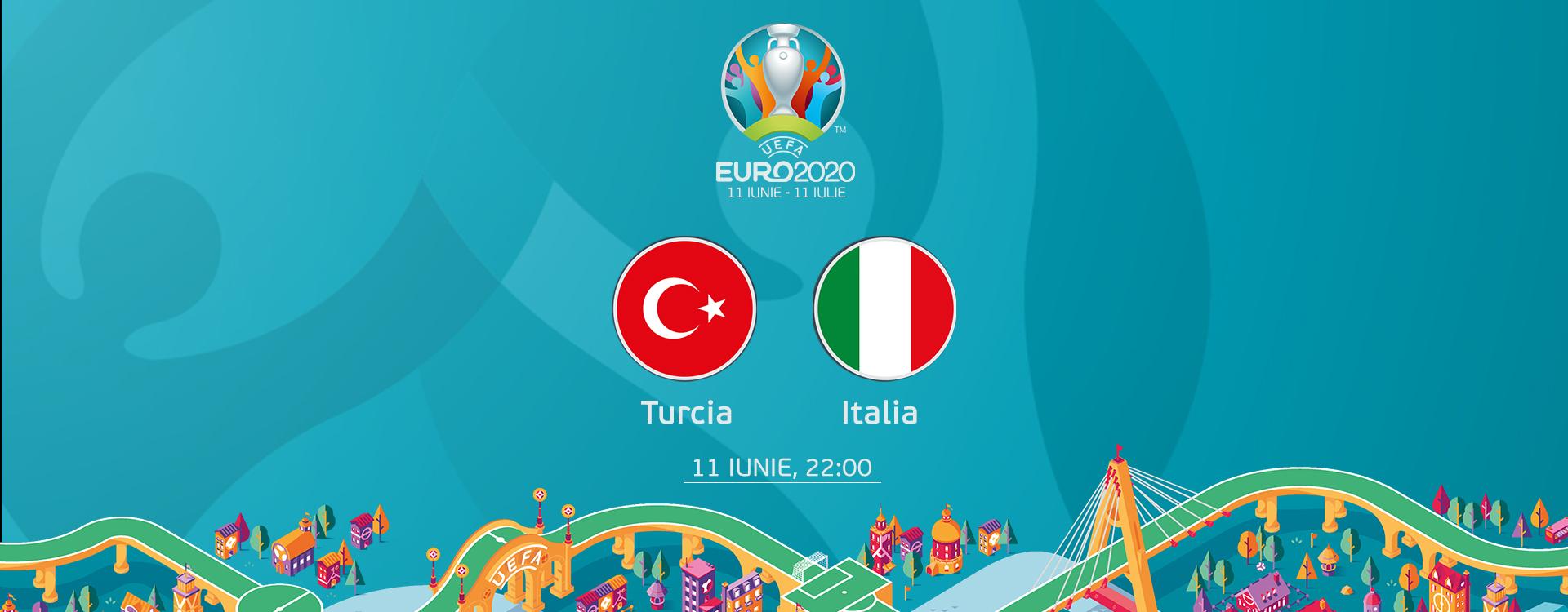 PRO TV a fost lider de audiență cu prima partidă de la EURO 2020, Italia-Turcia: 3-0