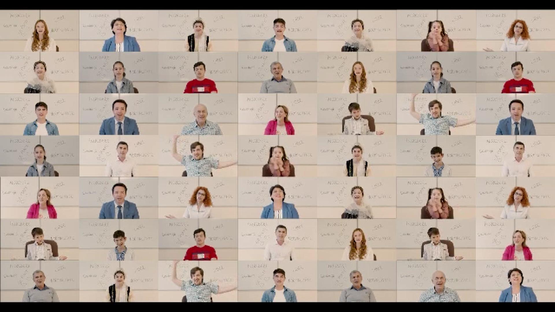 Copii de grădiniţă, elevi, profesori şi medici din Argeş au filmat un videoclip al imnului de vaccinare