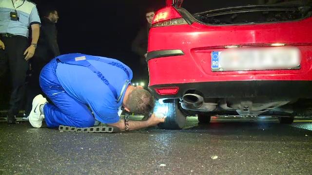 Razie în Capitală. Ce a pățit un șofer care conducea o mașină cu anvelopele uzate și care emana noxe peste limită