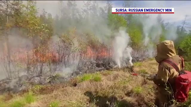 Incendiu masiv în Siberia. Flăcările au cuprins peste 550 de kilometri pătrați de vegetație