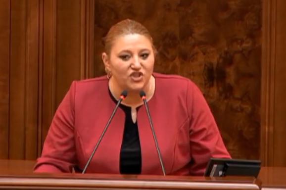 """VIDEO. Șoșoacă a făcut, din nou, circ în Parlament: """"Fiți puțin respectuos, domnule Orban"""""""