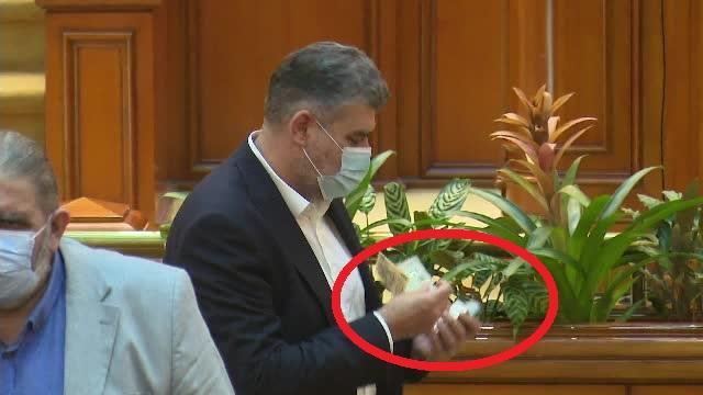 VIDEO. Președintele PSD Marcel Ciolacu era să rămână, din nou, fără banii din sacou