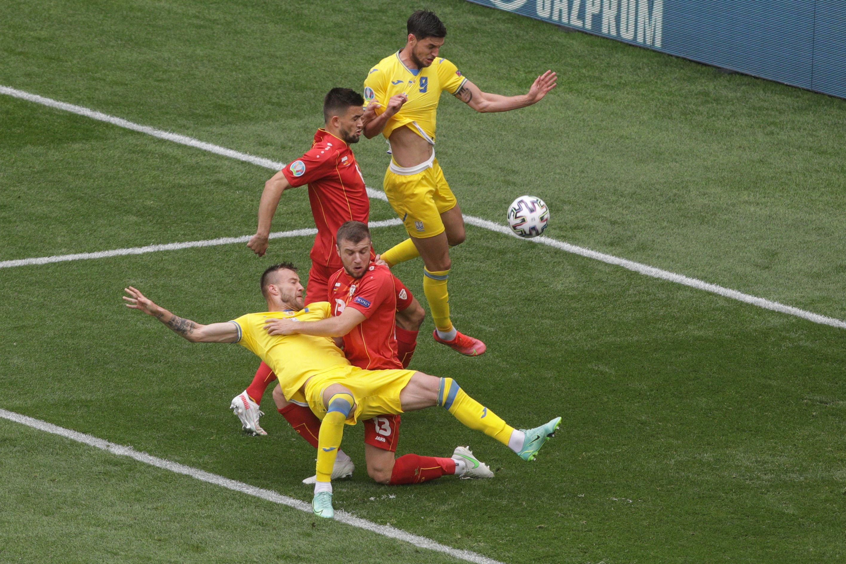 Ucraina 2 - 1 Macedonia de Nord, pe Arena Națională. Malinovskyi putea face 3-1, însă a ratat de la punctul cu var