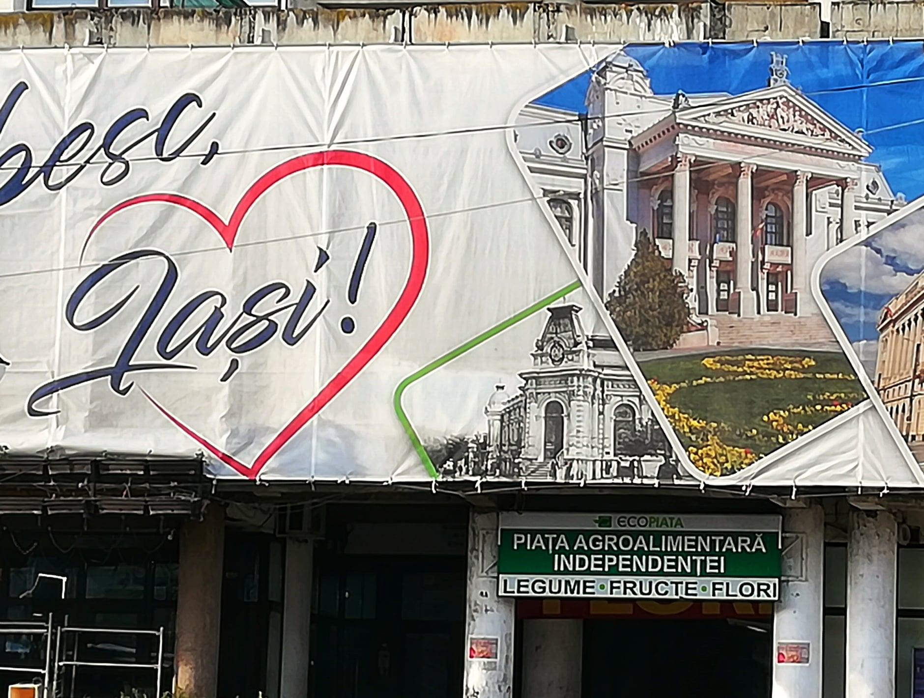 Primăria din Iași este acuzată că a făcut o gafă. Ce a apărut pe un banner din oraș