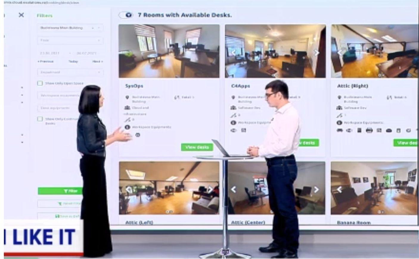 iLikeIT. Platforma prin care se pot rezerva spații la birou, cu tot cu dotări, utilă pentru lucrul în sistem hibrid