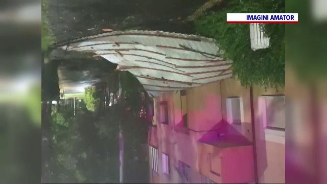 Furtuni violente în vestul țării. Vântul a smuls copaci din rădăcini și a spulberat acoperișuri