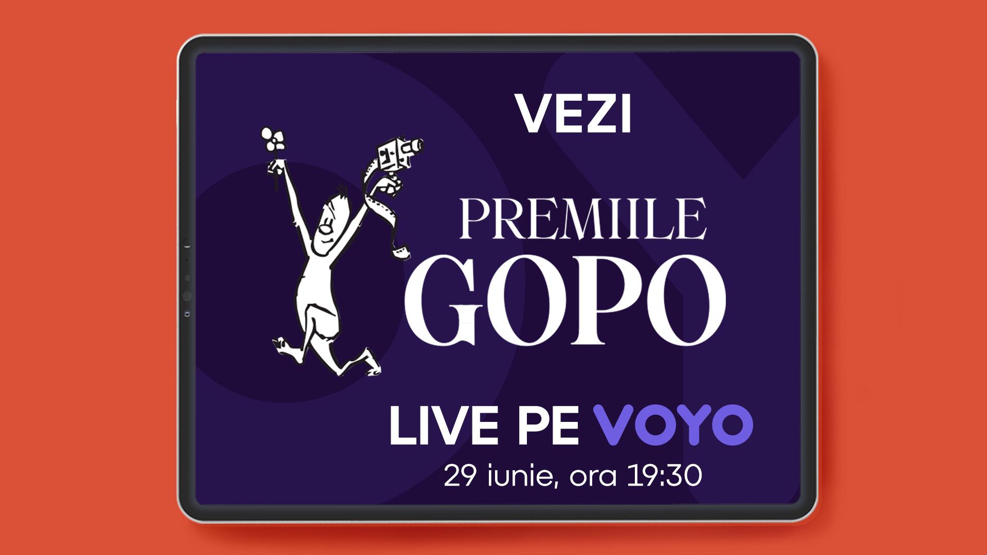 Gala Premiilor Gopo transmisă pe VOYO și PRO Cinema. Elvira Deatcu și Dragoș Bucur printre nominalizații de anul acesta