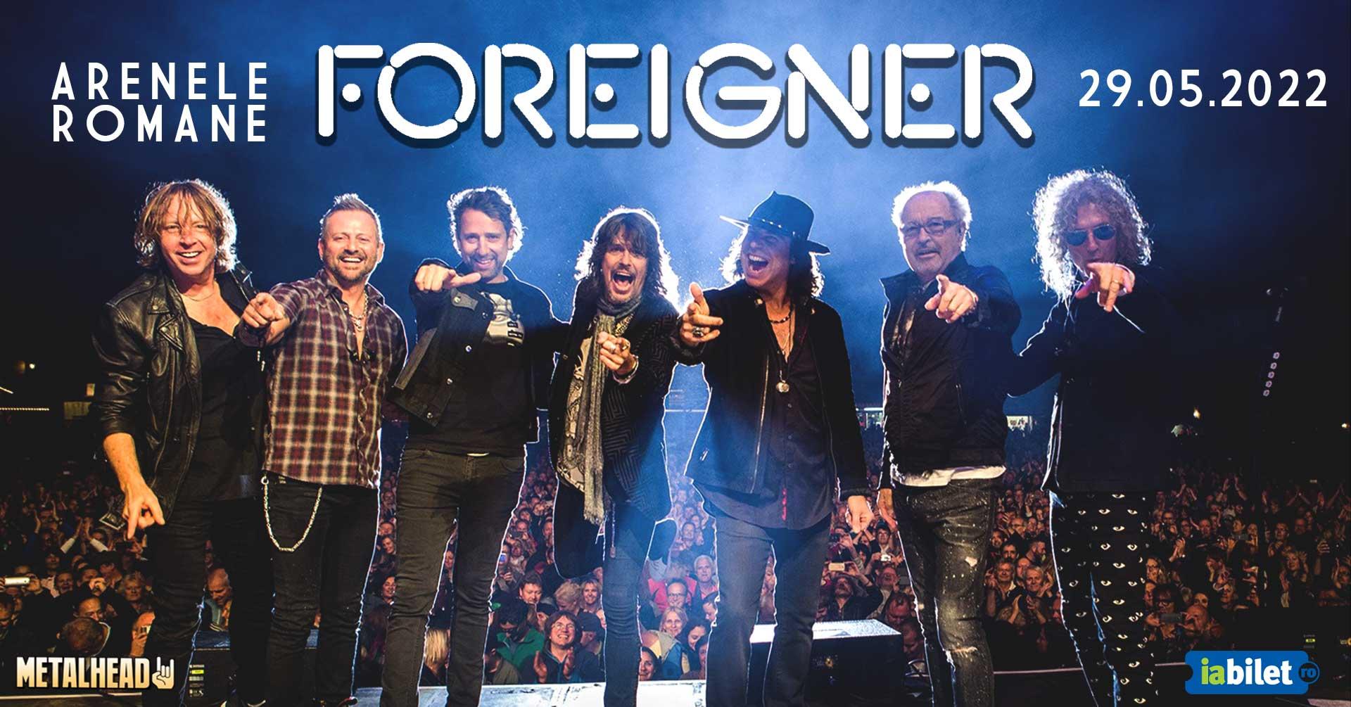 Supergrupul american de rock Foreigner revine la București. Concert la Arenele Romane în 2022