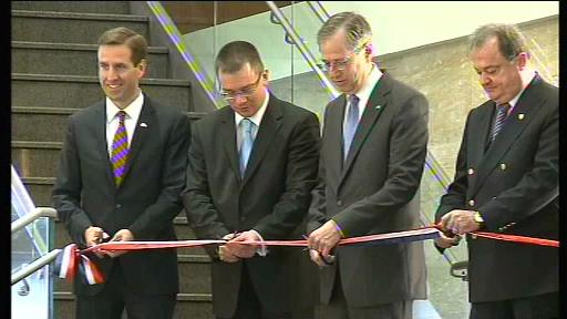 Blaga a vorbit despre abolirea vizelor la deschiderea oficiala a noii ambasade SUA din Capitala