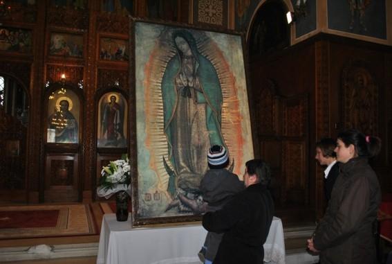 Icoana Sfintei Fecioare de la Guadalupe, expusa la Satu Mare