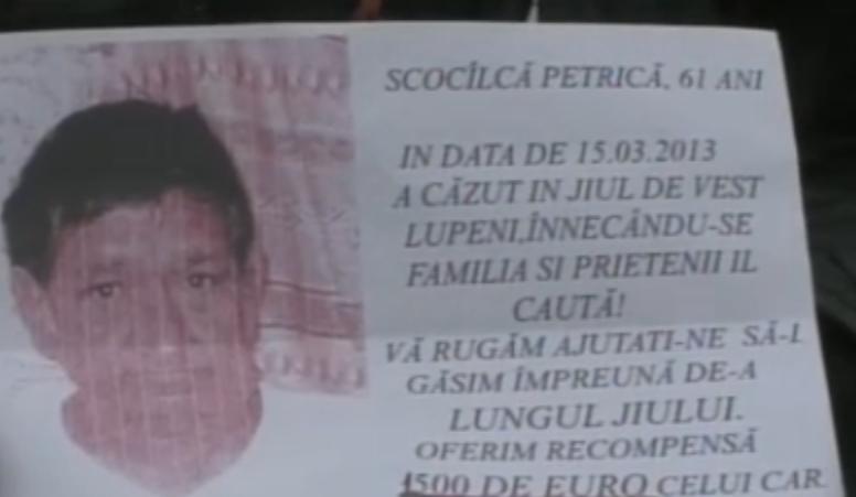 Disperare intr-o familie din Lupeni. Un barbat a disparut in apele involburate ale Jiului