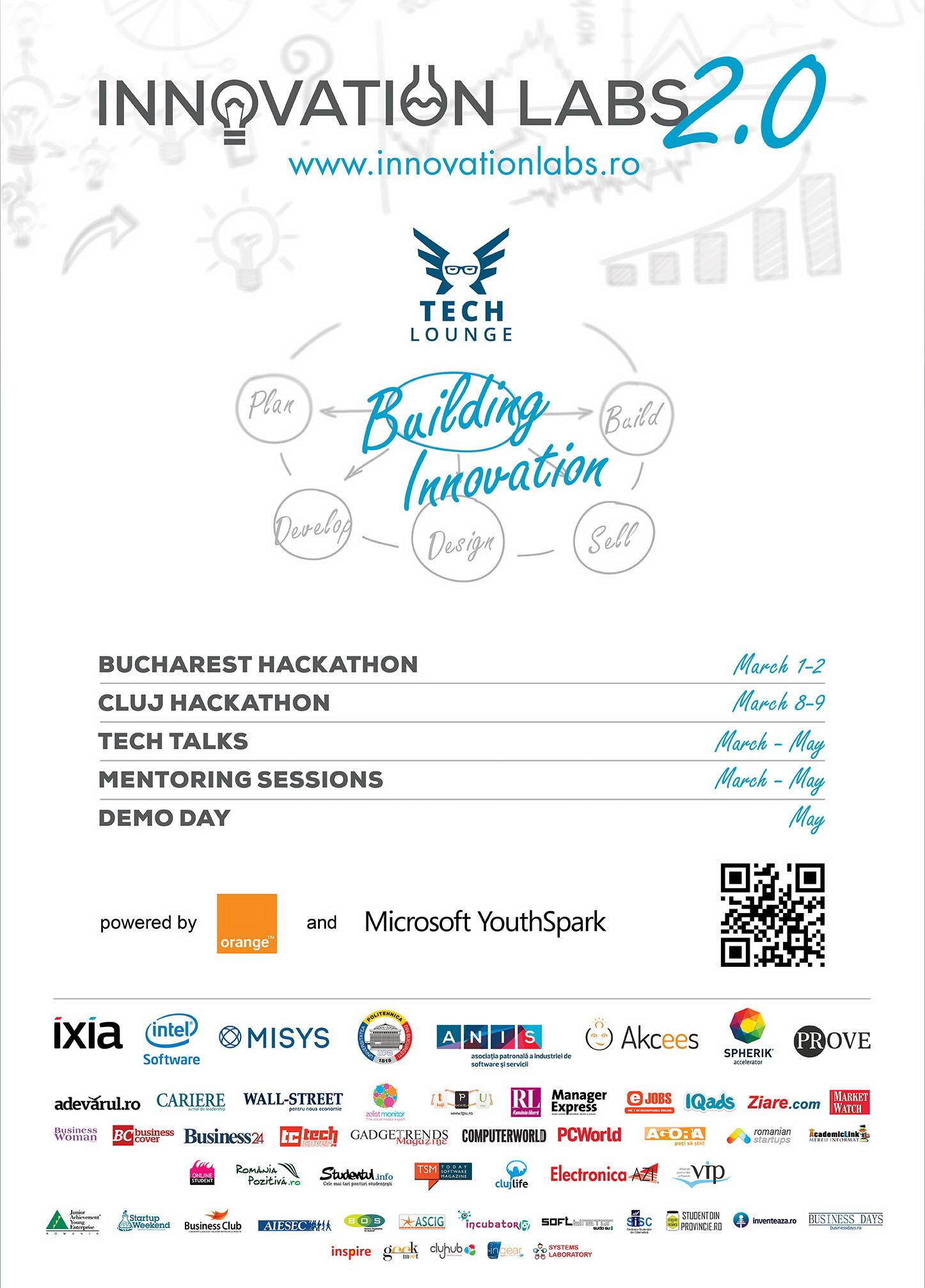Innovation Labs 2.0. Peste 150 de tineri isi vor prezenta ideile de afaceri la hackathon-ul de la Universitatea Politehnica