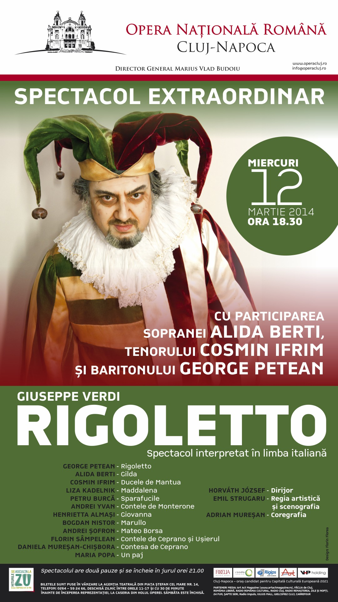 Spectacol extraordinar de opera Rigoletto la Opera Nationala Romana din Cluj