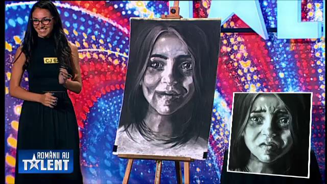 ROMANII AU TALENT, sezonul 4. Momentul serii: Claudia, fata care a schimbat lacrimile in zambet cu talentul ei