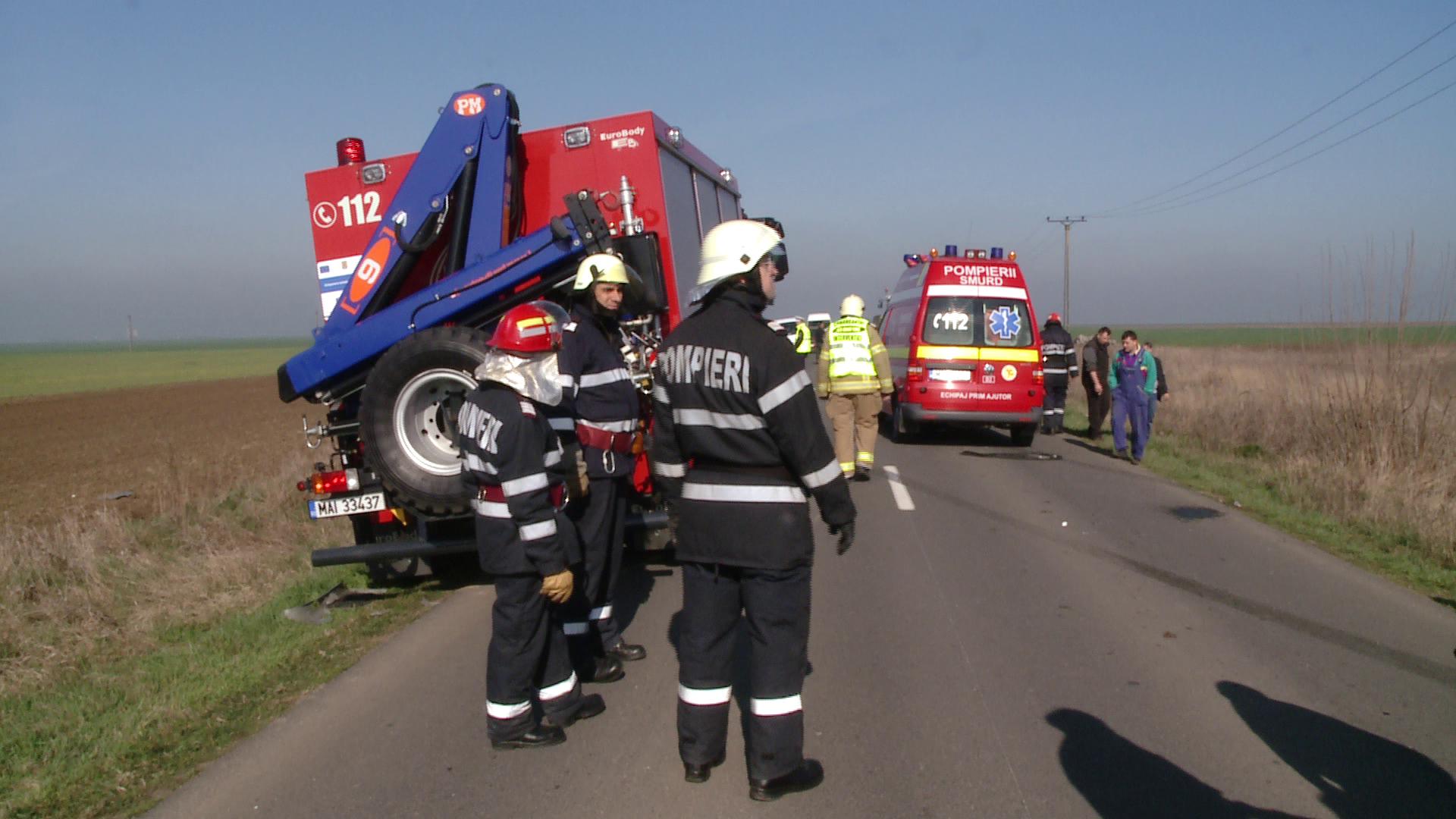 Accident teribil petrecut in aceasta dupa-amiaza in Maramures. Un sofer a fost prins sub camion, in rapa