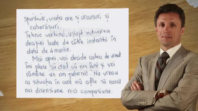 Scrisoarea lui Gica Popescu din inchisoare: