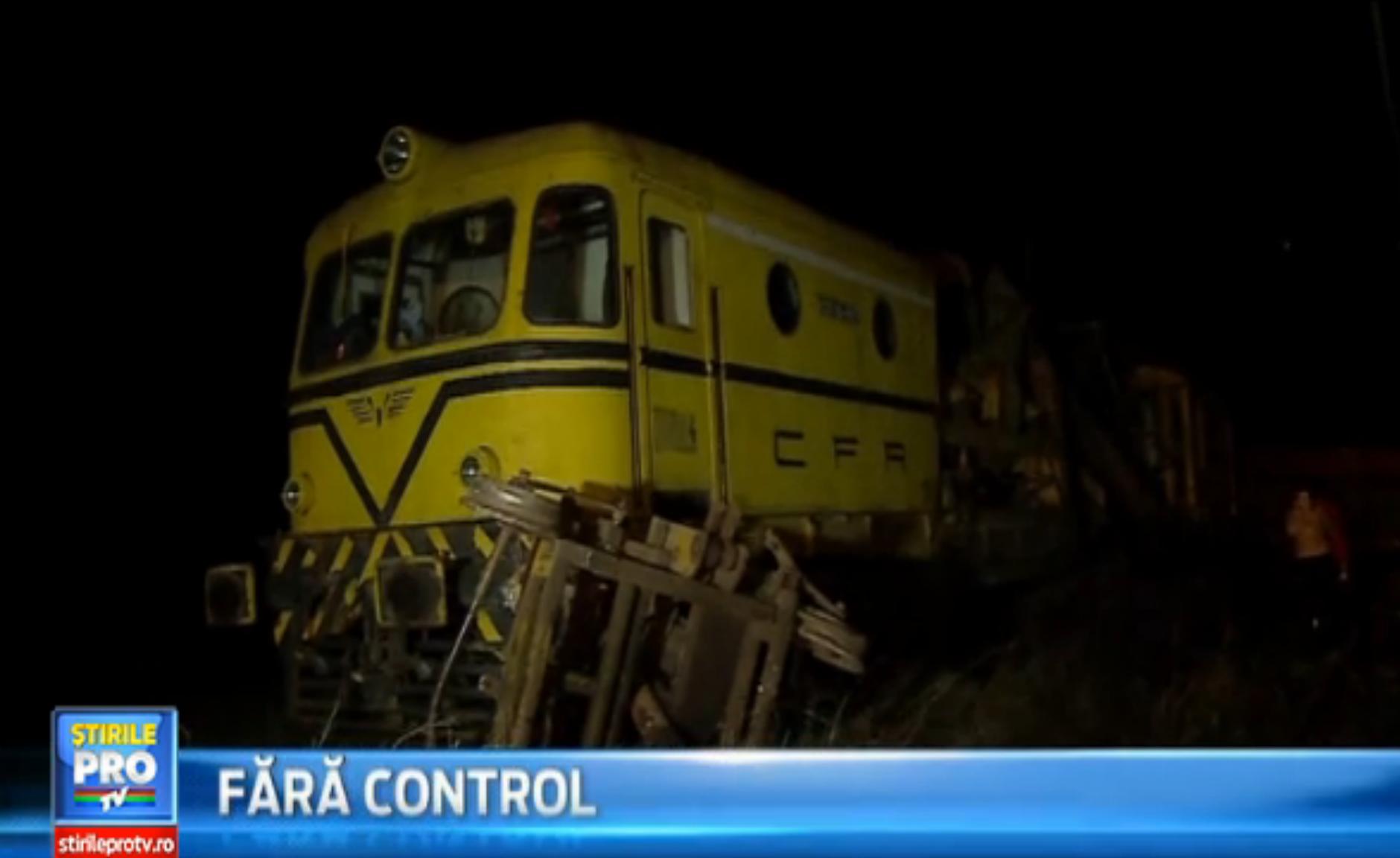 O drezina scapata de sub control a parcurs 12 km pe calea ferata. Trenurile de pe ruta Simeria-Petrosani au avut intarzieri
