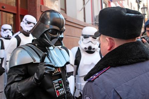Rasturnare de situatie in Ucraina. Darth Vader si-a anuntat candidatura la alegerile prezidentiale. VIDEO