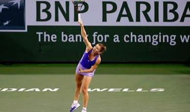 Simona Halep, lovitura meciului cu Varvara Lepchenko - Aplaudata la scena deschisa de publicul de la Indian Wells. VIDEO