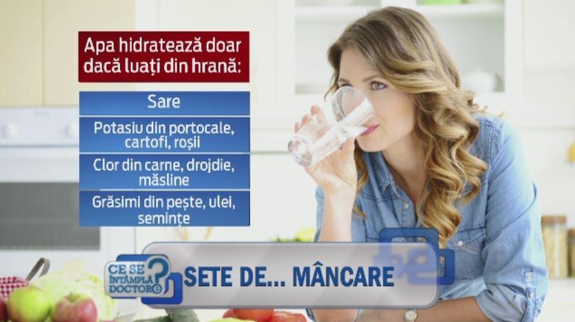 O dieta saraca si de slaba calitate duce la deshidratare, indiferent de cantitatea de apa consumata. Explicatia este simpla