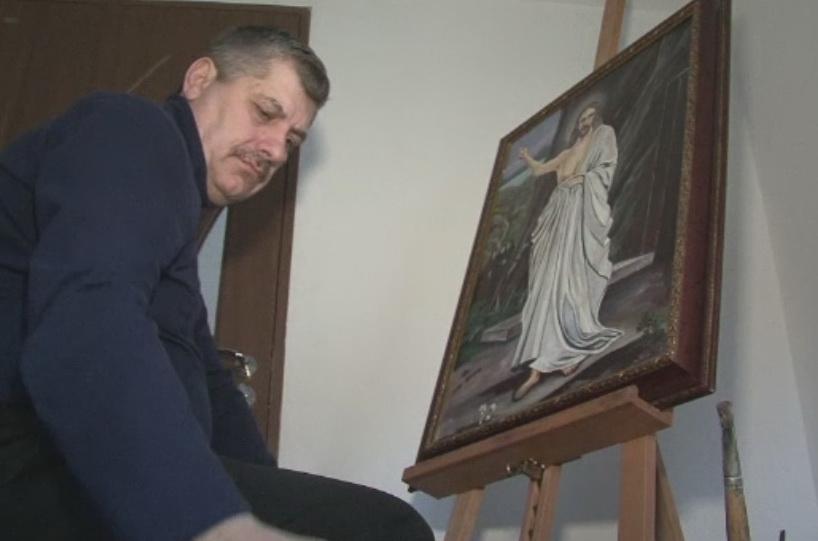 Politist in viata profesionala, pictor in timpul liber. Operele de arta ale unui comisar din Bistrita, apreciate in SUA