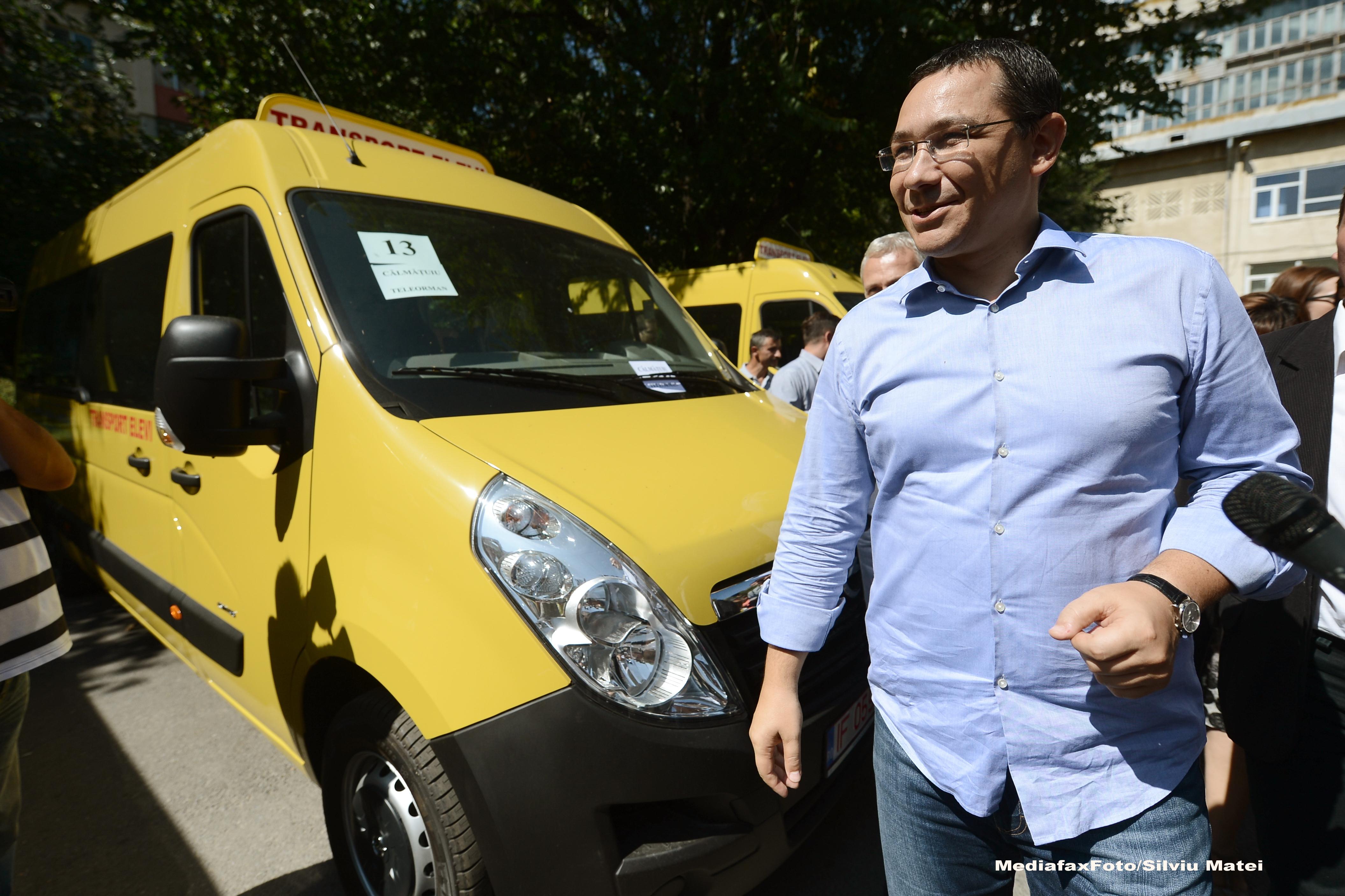 Unele masini donate recent Republicii Moldova de Guvernul Romaniei s-au defectat. Replica lui Victor Ponta