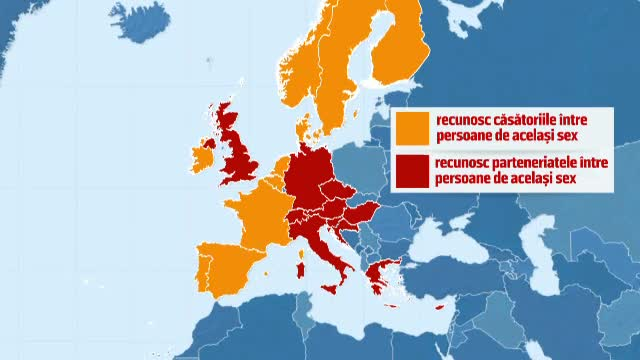 Petitia pentru interzicerea casatoriilor gay semnata de 2,2 milioane de romani. 12 tari europene accepta legal aceste relatii
