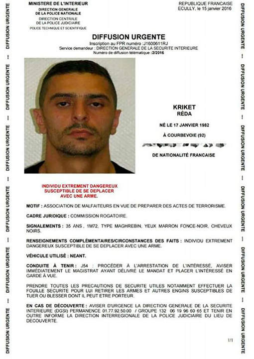Atentat terorist dejucat in Franta. Legaturile pe care le avea Reda Kriket,