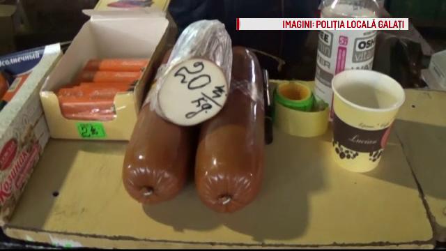 Zeci de kilograme de alimente expirate, confiscate de la comerciantii veniti din Republica Moldova. Ce vindeau acestia