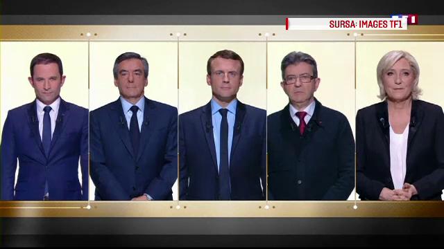 Macron, dat castigator de sondaje in prima dezbatere prezidentiala. Le Pen a promis ca va scoate Franta din UE