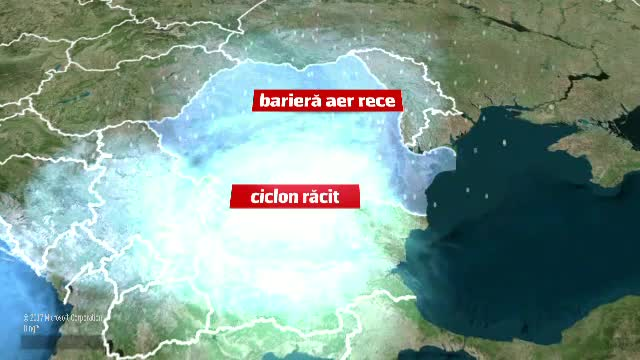 Cod Portocaliu de ninsoare și viscol în sudul țării. Un ciclon format în Marea Mediterană va aduce temperaturi foarte mici