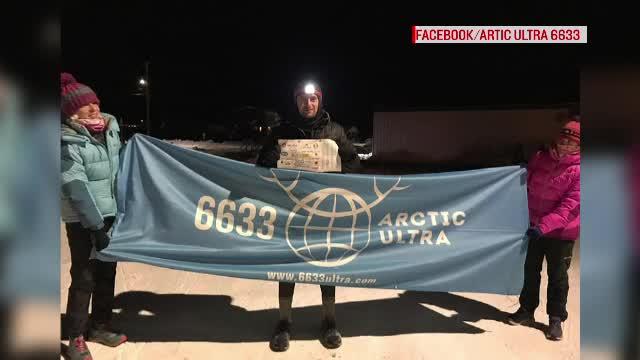 Un clujean a câștigat cursa de 120 de mile a Ultramaratonului de la Polul Nord
