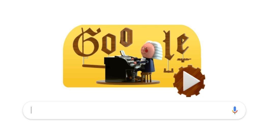 Google sărbătorește 334 de ani de la nașterea lui Bach printr-un Doodle în premieră