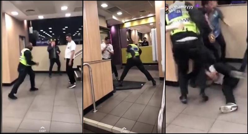 Scene șocante într-un fast-food. Ce a urmat după ce doi clienți au refuzat să plătească