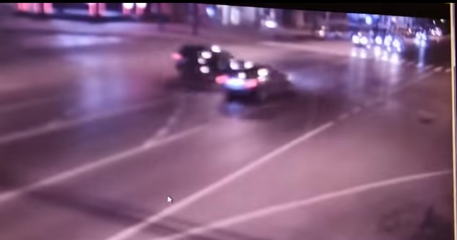 VIDEO. Momentul în care mașina lui Mihai Chirica este lovită de un BMW