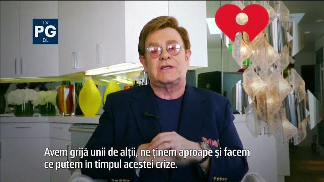 """Elton John, gazda unui concert caritabil în sufragerie: """"E multă durere în jur"""""""