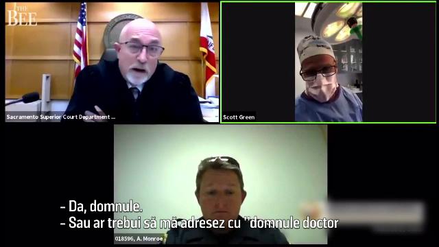 Un chirurg din SUA s-a prezentat la o audiere online într-un proces în timp ce opera un pacient