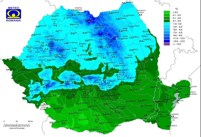 Vremea 6 martie 2021. Frig, ploi şi chiar ninsori, în toată ţara